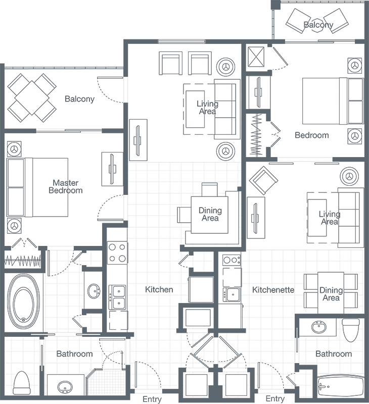 Sheraton broadway plantation floor plan meze blog 3 bedroom villa floor plans
