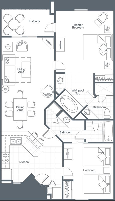 two-bedroom villa - sheraton broadway plantation