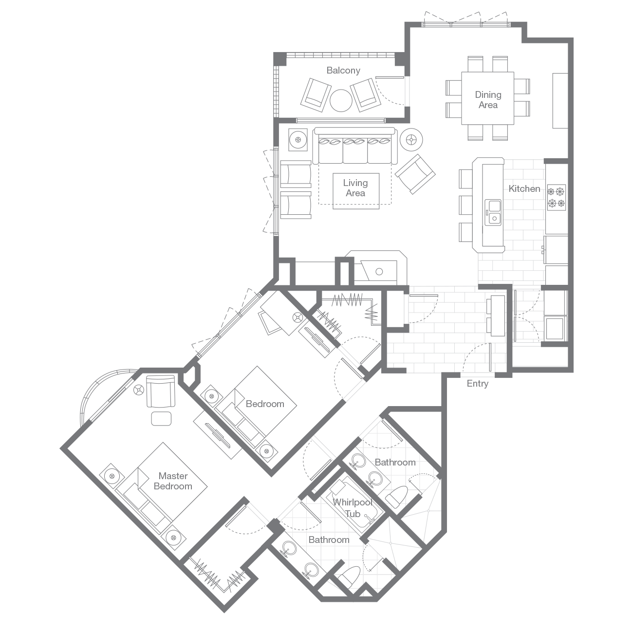 Sheraton Vistana Resort Floor Plans Sheraton Steamboat Resort Villas Two Bedroom Lockoff Villa